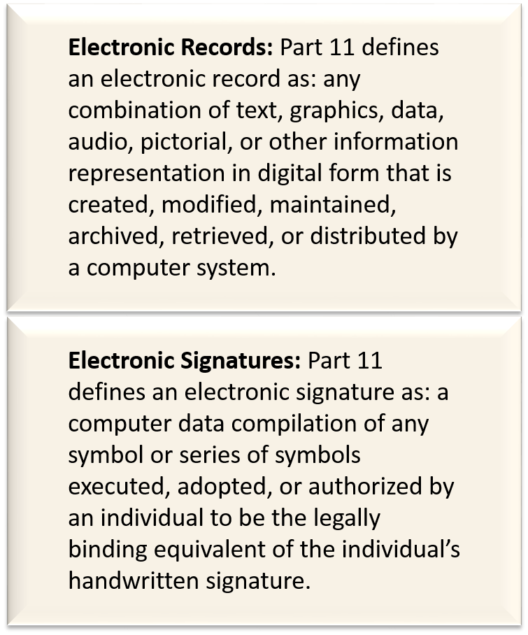 21 CFR Part 11 FDA Compliance- Electronic Record Electronic Signature