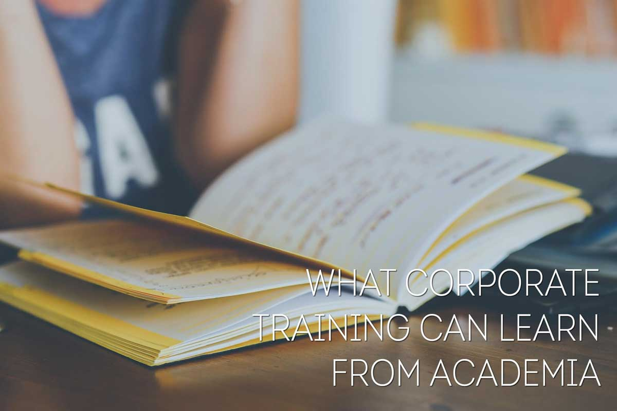 Connecting the dots: What Corporate Training Can Learn from Formal Education